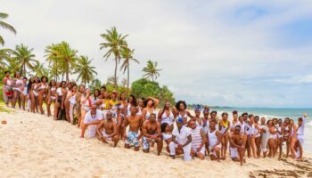 Melanin Illustrated All White Beach Shoot